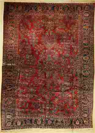 US saruk antique, Persia, around 1900, wool on cotton