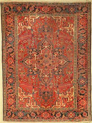 Heriz old, Persia, around 1950, wool on cotton