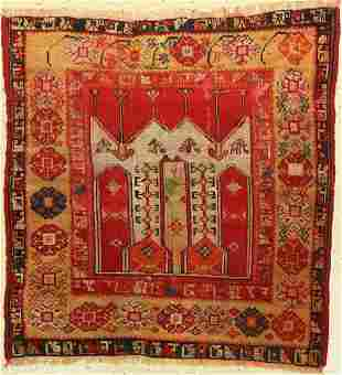 Central Anatolian prayer rug antique, Turkey, around