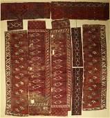 (9 Lots) early Turkmen fragments antique, # #