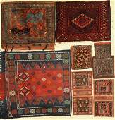 (7 lots) bags and 1x Sofreh old, Persia, around