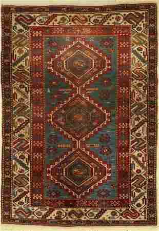 Shirvan antique, Caucasus, around 1910, wool on wool