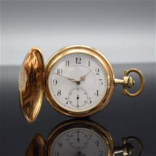 LEVAILLANT 14k pink gold hunting cased pocket watch