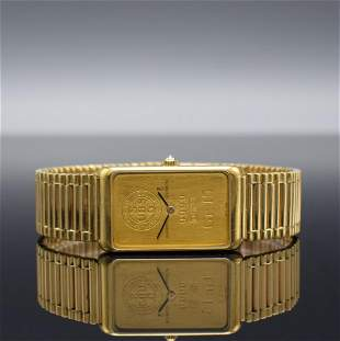 CORUM gents wristwatch in form of a 15g gold bar