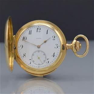 ZENITH 14k yellow gold hunting cased pocket watch