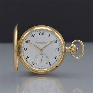 IWC 14k yellow gold hunting cased pocket watch