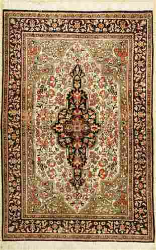 Qum silk old, Persia, approx. 60 years, pure natural