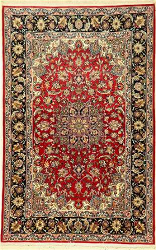 Isfahan fine, Persia, approx. 50 years, wool with and