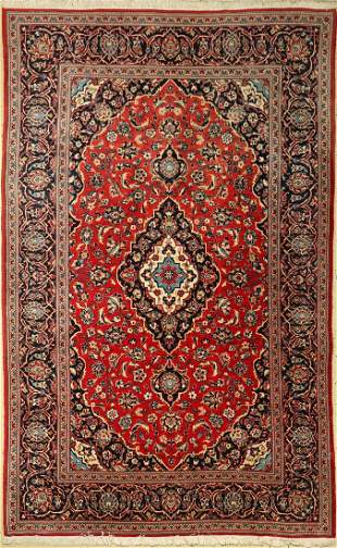 Kashan old, Persia, approx. 30 years, wool on cotton