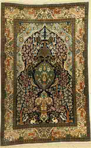 Qum, Persia, approx. 50 years, wool on cotton,approx.