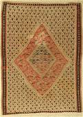 Senneh kilim antique, Persia, around 1910, wool on
