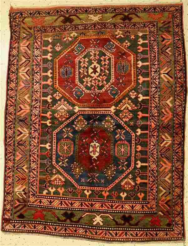 Kazak antique, Caucasus, around 1910, wool on wool