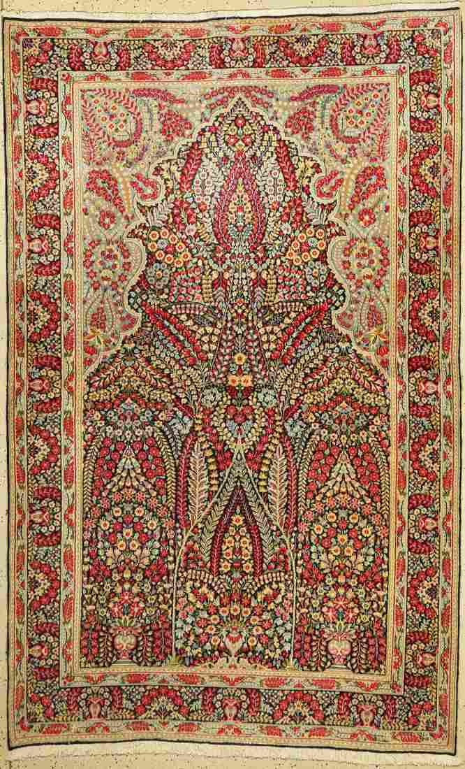 Kirman Lawar old, Persia, approx. 60 years, wool on