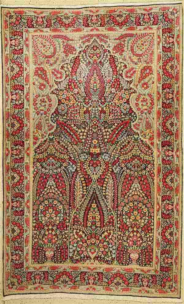 Kirman Lawar old, Persia, approx. 60 years, wool on