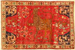 Gabbeh old, Persia, around 1950, wool on wool,approx.