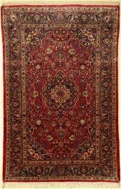 Kashan silk fine old, Persia, around 1940, pure natural