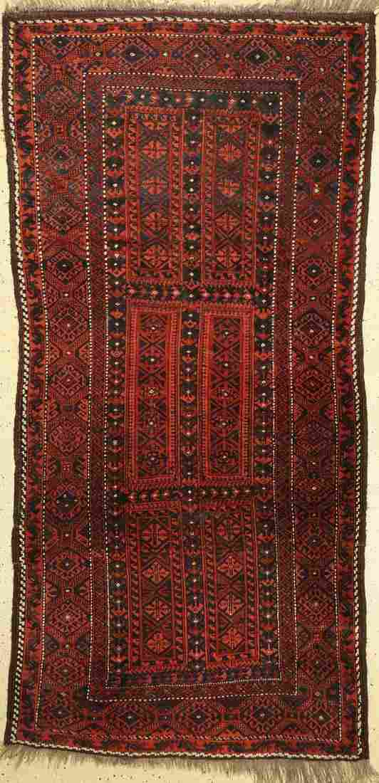 Antique Baluch, Persia, around 1920, wool on wool