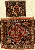 Mixed lot of 2 Ghashgai bag fronts, Persia, around 1900
