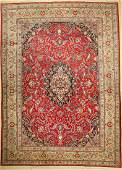 Kashan old, Persia, around 1950, wool on cotton