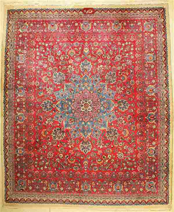 Mashad old signed (Saber), Persia, around 1950, wool