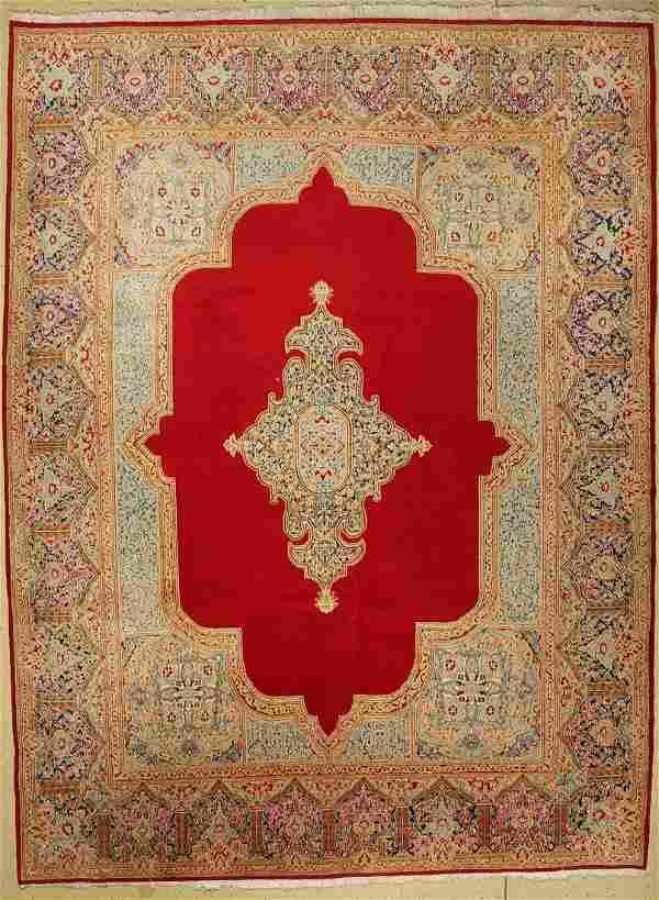 Kirman old, Persia, approx. 50 years, wool on cotton