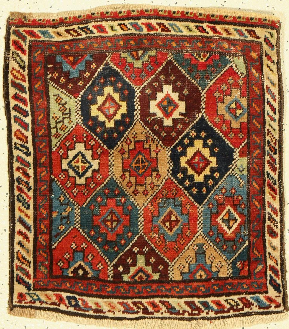Shahsavan bag front, Persia, around 1920, woolon wool