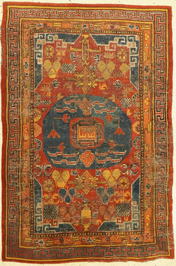 Antique Khotan, Turkestan, early 19th century,wool on
