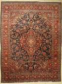 Kashan cork fine, Persia, around 1930, wool oncotton