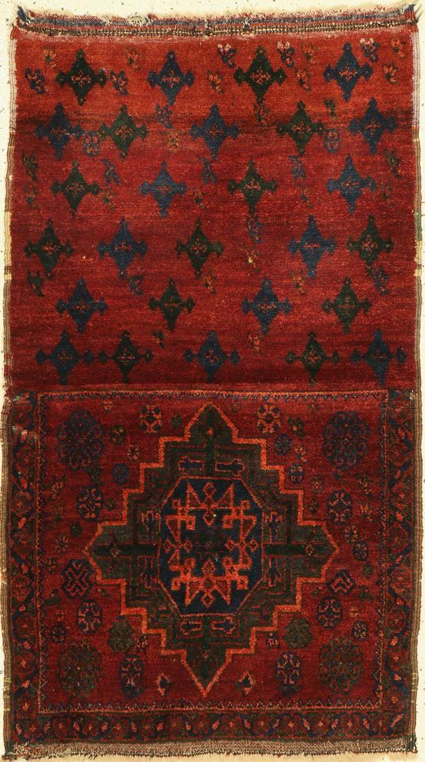 Open bag old, northwest Persia, around 1920, wool on