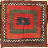 Afshar Sofreh, Persia, around 1940, wool on cotton