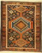 Garadjeh old, Persia, around 1940, wool on cotton