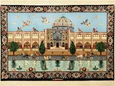 Isfahan fine Persia, signed (Heidari), approx. 40 years