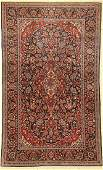 Kashan cork old, Persia, around 1930, wool on cotton