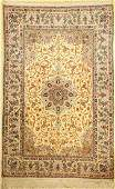 Isfahan fine old, Persia, around 1950, wool onsilk