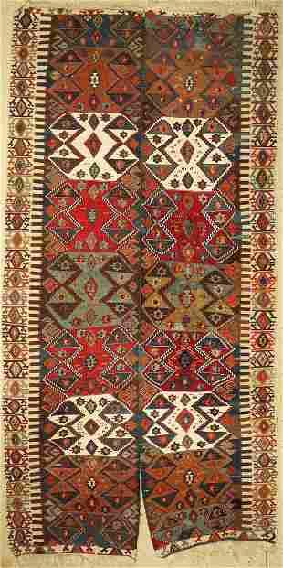 Anatol Kilim antique (2 panels), Turkey, around 1910