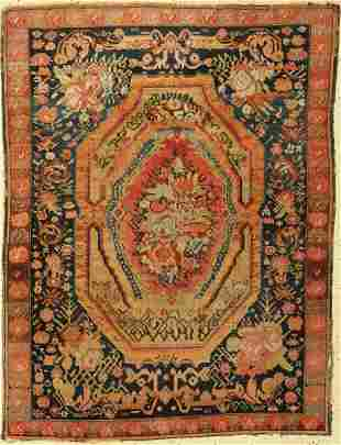 Karabagh antique, Caucasus, around 1900, wool on wool