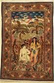 Kashan (Adam & Eve), Persia, around 1940, woolon cotton