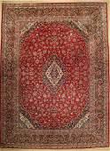 Kashan old, Persia, around 1950, wool on cotton