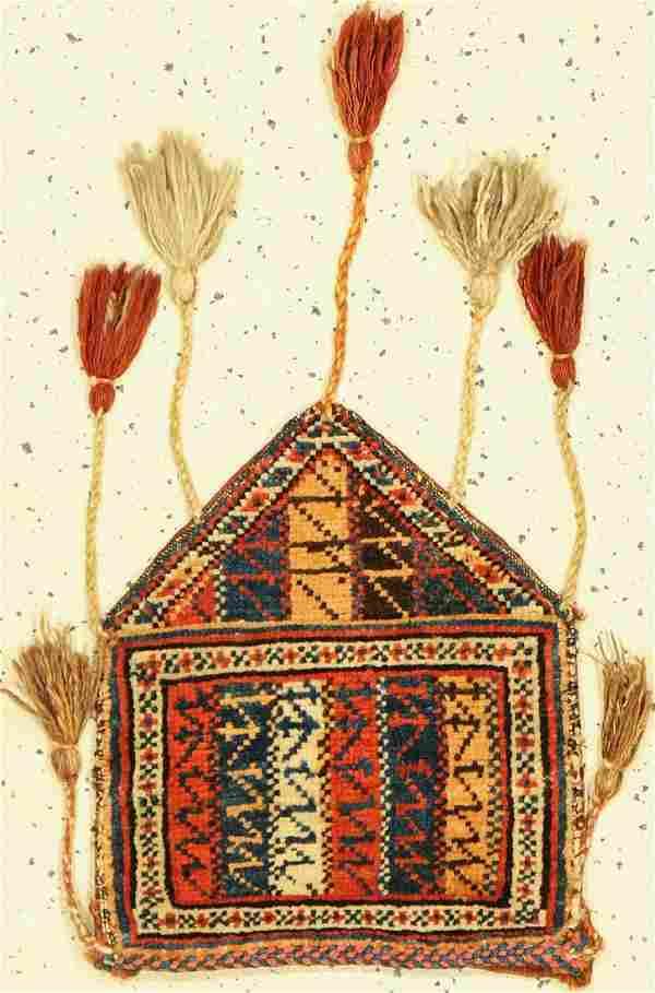 Luri bag antique, Persia, around 1900, wool onwool