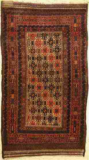 Antique Baluch, Persia, late 19th century, wool on