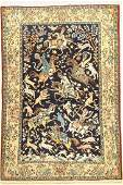 Qum old, Persia, approx. 50 years, wool with silk