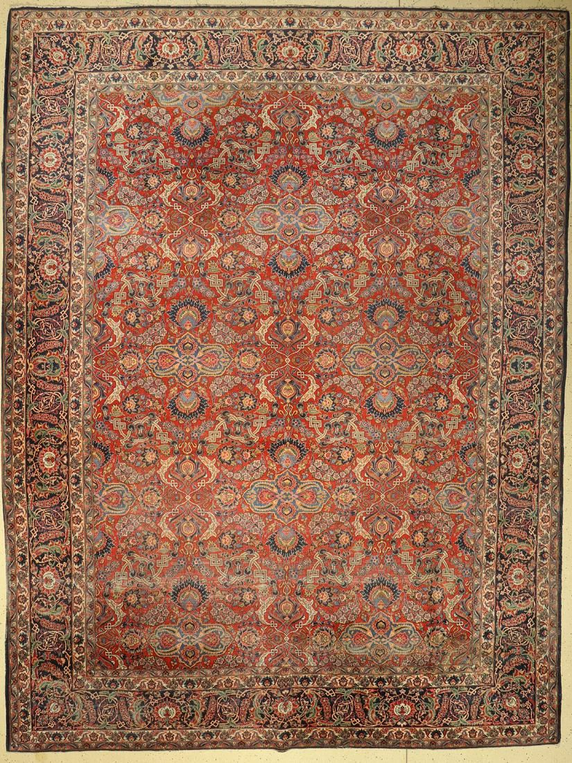 Kashan old, Persia, around 1920/1930, wool, approx. 420