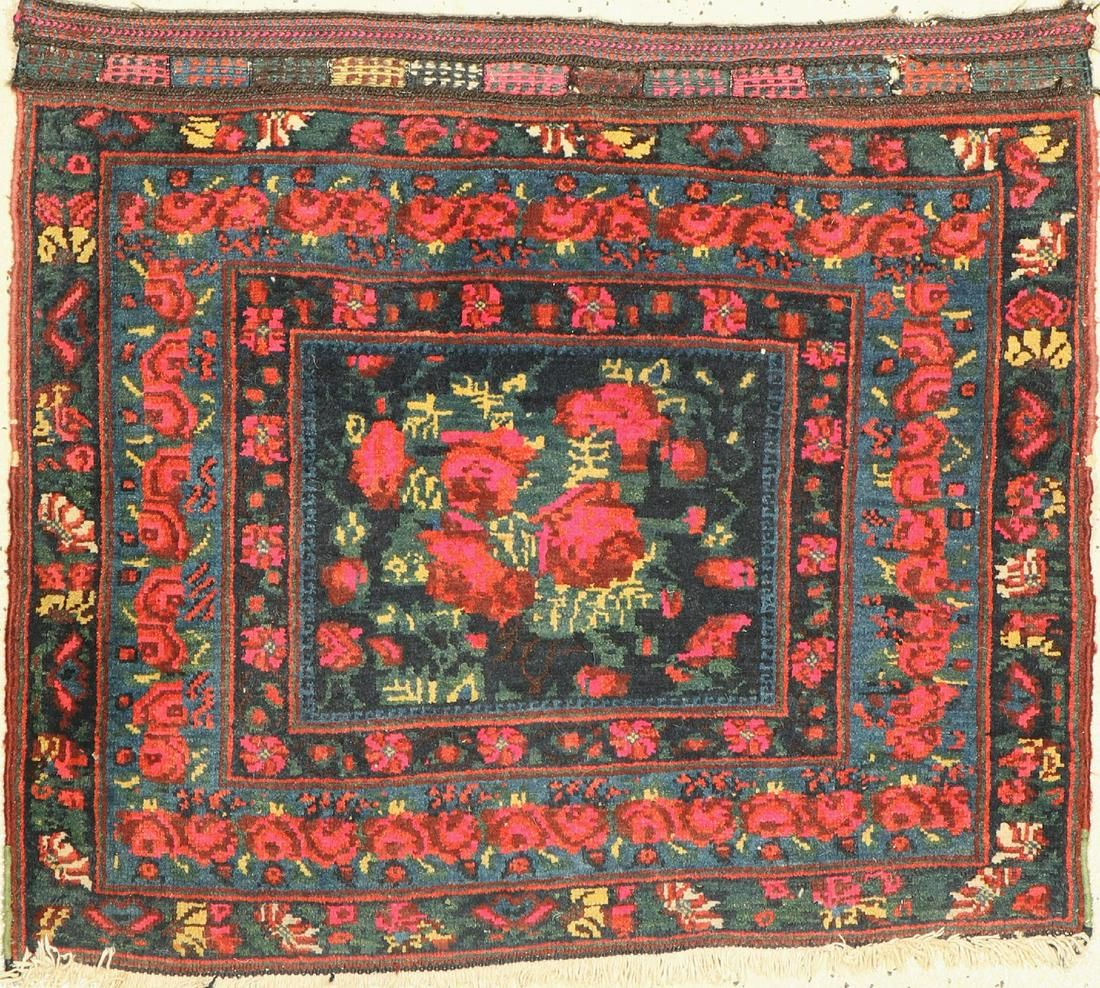 Afshar bag front, Persia, around 1950, wool on cotton