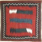 Afshar Sofreh old, Persia, around 1930, wool on wool