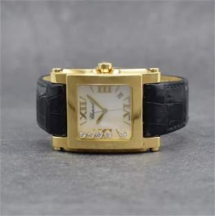 CHOPARD 18k yellow gold ladies wristwatch Happy Sport