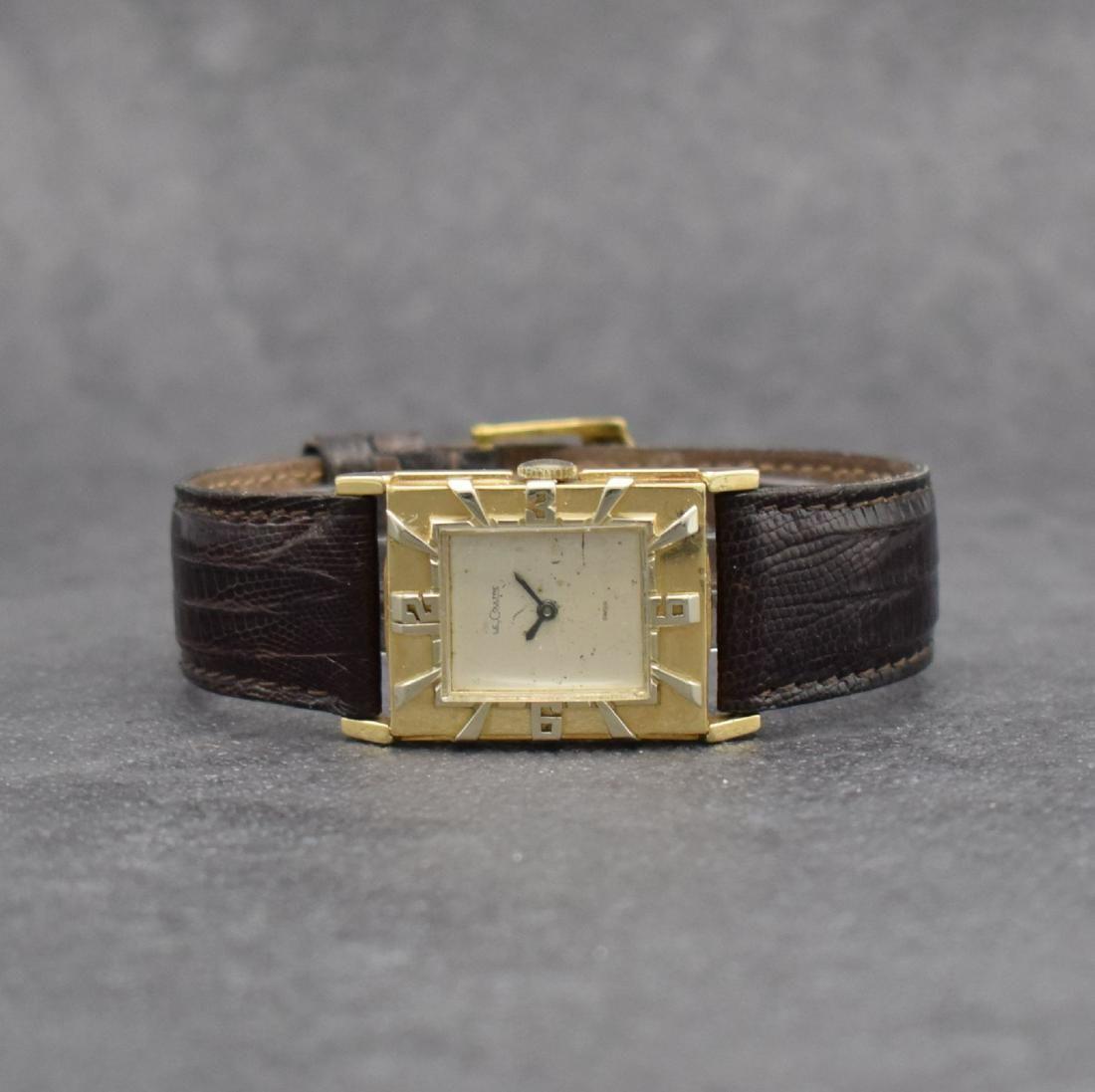 LeCoultre rare 14k yellow gold gents wristwatch