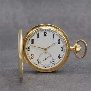 CYMA 14k yellow gold hunting cased pocket watch
