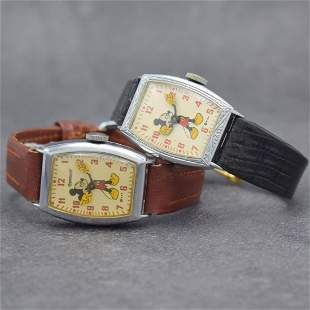 Mickey Mouse set of 2 wristwatches from Walt Disney