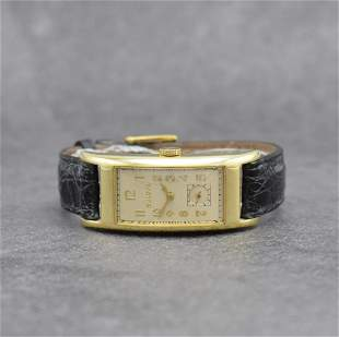 BULOVA 'Curvex' rectangular wristwatch, USA around 1940
