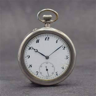 IWC open face pocket watch, Switzerland around 1916